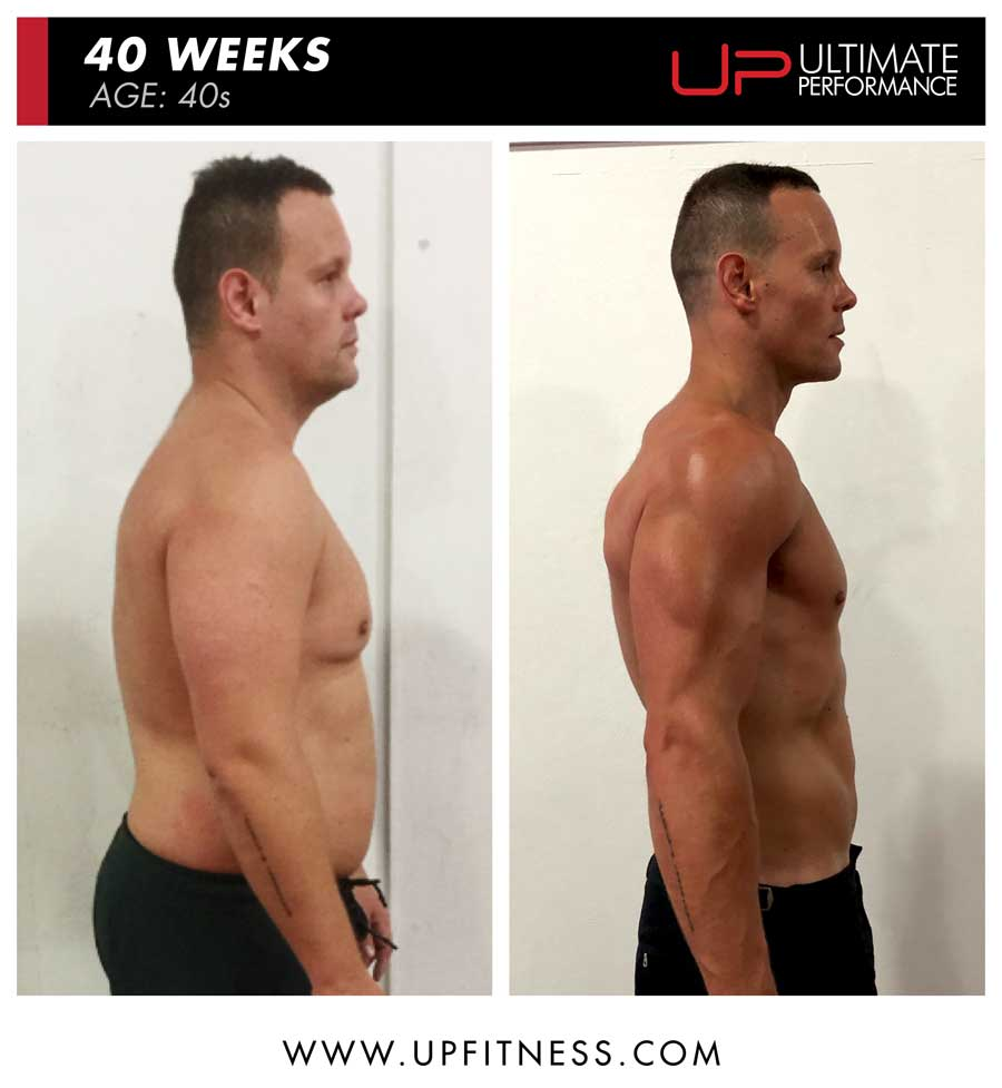 Rob 40 weeks transformation - side