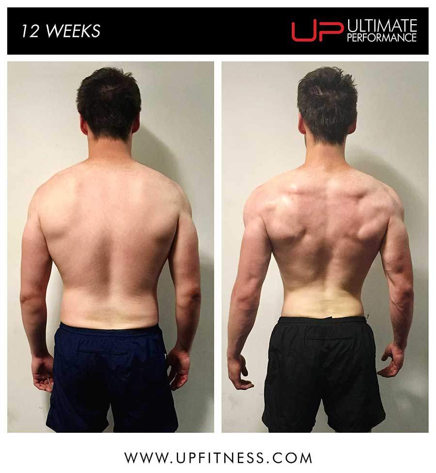 Tim 12 week transformation results - back