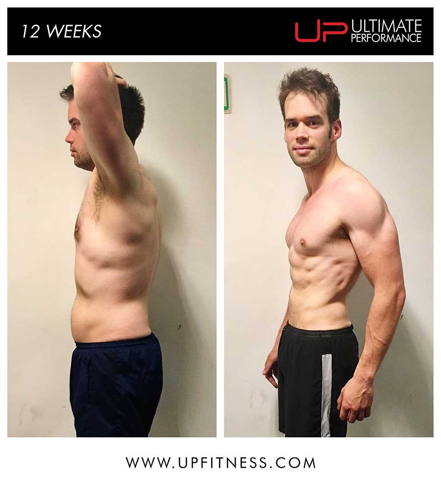 Tim 12 week transformation results - side