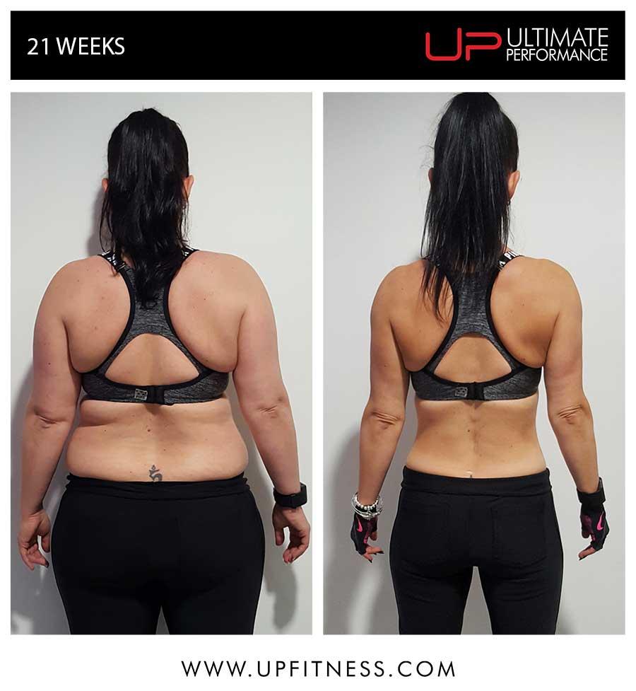 Rachael's 21 week transformation
